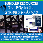 The Boy in the Striped Pajamas Reading Activity Super Bundle