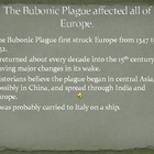 The Bubonic Plague  The Black Death