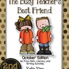 The Busy Teacher's Best Friend: October Edition SECOND