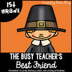 The Busy Teacher&#039;s Best Friend Thanksgiving Edition