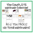 The COMPLETE Math Mat Collection on CD! ALL 12 TEN PACKS!