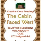 The Cabin Faced West by Jean Fritz: 58 Pg Guide for Westwa
