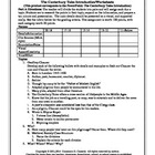 The Canterbury Tales Introduction Worksheets