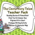 The Canterbury Tales Pack: PowerPoint, Printables, Assessm