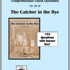 The Catcher in the Rye Study Guide Questions - Entire Novel