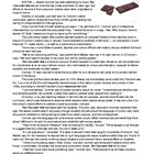 The Chocolate War Pre-reading Activity: Article and Questions