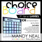 The Choice Board-1st Nine Weeks