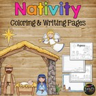 The Christmas Story Nativity, Jesus Coloring &amp; Writing Pag
