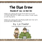 The Clue Crew: Sounds of ue, ui, and ew Word Work