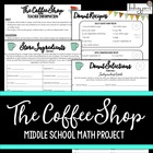 The Coffee Shop {Middle School Math Project}