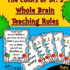 The Colors of Dr. S!  Whole Brain Teaching Rules with Bonu