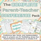 The Complete Parent Teacher Conference Pack for Grades K-6