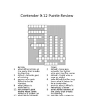 The Contender 9-12 Review Puzzle