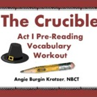 The Crucible Act I Vocabulary Puzzle Using Context Clues