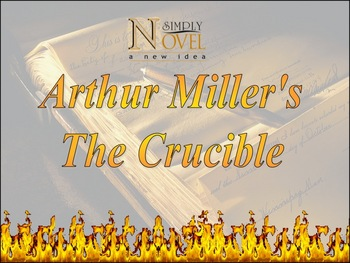 The Crucible CD Innovative PowerPoint Novel Unit