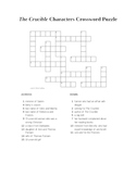 The Crucible Characters Crossword Puzzle