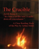 The Crucible Close Reading Study Guide, 18 Pages, Answer Keys