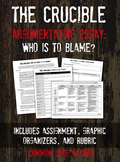 The Crucible Essay Assignment: Who is to Blame?