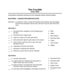 The Crucible Final Exam (100 question test)