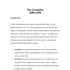 The Crusades (1096 - 1204)