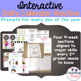 The Daily Calendar Routine {Based on CCSS}