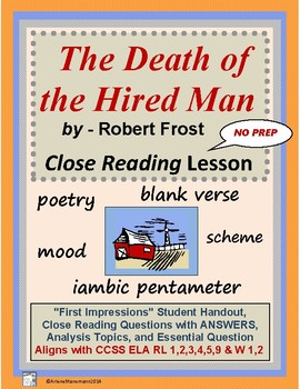 The Death of the Hired Man, Study Using Close Reading