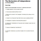 The Declaration of Independence study guide questions with key