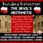 The Devil&#039;s Arithmetic Reading Activities Super Bundle