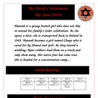 The Devil's Arithmetic Reading Literature Circle Activity