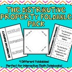 The Distributive Property Foldable Pack for Interactive Ma