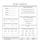 The Dive ~ Activity Sheets ~ Reader's Library ~ 3rd Grade