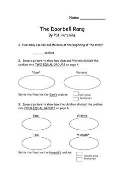 The Doorbell Rang - Fraction Sets