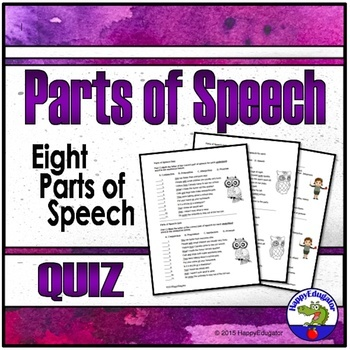The Eight Parts of Speech Quiz
