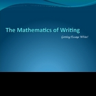 The Essay Formula: Writing as Mathematics
