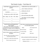 The Family Garden Activity Sheets ~ Phonics Library ~ HM®