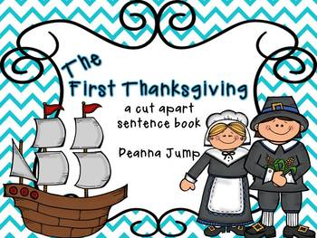 The First Thanksgiving Cut a Sentence Freebie