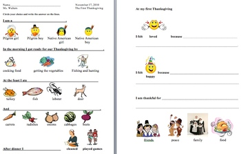 The First Thanksgiving Tiered Lesson Plan