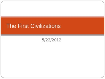 The First  Western Civilizations