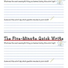 The Five Minute Quick Write