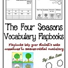 The Four Seasons Vocabulary Flapbooks (Includes 2 Differen