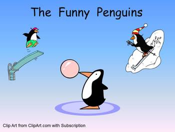 The Funny Penguins- Winter Kindergarten Shared Reading PowerPoint