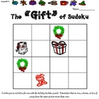 """The Gift of Sudoku""--Primary Christmas Sudoku Puzzle"