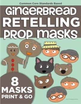 The Gingerbread Man Retelling Props (Masks)