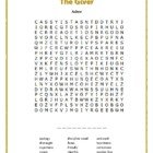The Giver: 8 Word Searches Based on the Novel