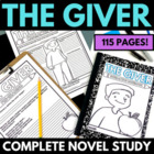 The Giver: Complete 55 Page Unit -  Questions, Handouts, A