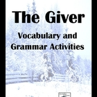 The Giver Grammar and Vocabulary Activity Pack