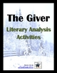 The Giver Literary Analysis Activity Pack