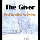 The Giver Post-Reading Ideas and Activities