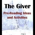 The Giver Pre-Reading Ideas and Activities