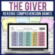 The Giver reading comprehension GAME